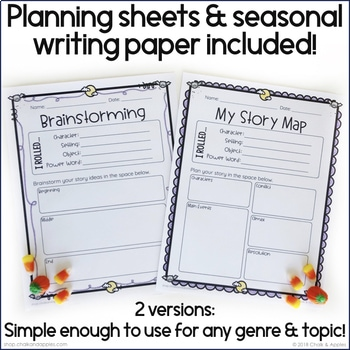 653A2176 26AF 4BD5 8ABE C274F555A947 - Halloween Writing Activity - Roll & Write Center - Distance Learning
