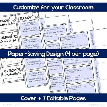 7BC6D9DA E24F 47E4 8C99 A0B764AD6854 - Student Passwords & Technology Info Flip Book (Editable Flipbook)