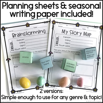 9077E97A C719 4F10 B89D EEA45D6724AE - Spring Writing Activity - Roll & Write Center - Distance Learning