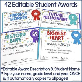 90CDF4F5 360D 4166 8D64 7FBA9C9D780E - Editable End of the Year Student Awards