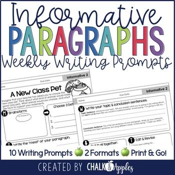 9E32B6AD 68F9 4DB9 83AC 801ED063D3EC - Paragraph Writing Bundle - Print & Digital Weekly Writing Prompts