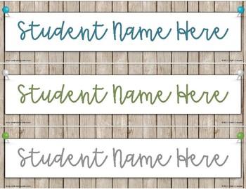 A15081D8 FA5B 415B 93A5 54E41F54DAD4 - Student Nameplates - Rustic Farmhouse Chic