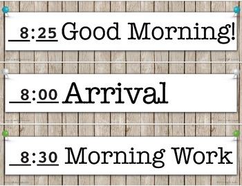 A42B2539 1AEA 48B9 9D15 8268C638F5C8 - Editable Schedule Cards - Rustic Farmhouse Chic