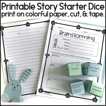 AD88B0B4 7AB2 461A A79D 4D3C10D95D3E - Spring Writing Activity - Roll & Write Center - Distance Learning