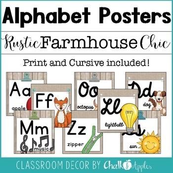 Alphabet Line In Print Cursive Rustic Farmhouse Chic 1.jpg - Alphabet Line in Print & Cursive - Rustic Farmhouse Chic