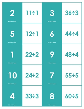 BDD6141F 55F8 497A 8B74 67BCF2E40D45 - Division Fact Dominoes Game