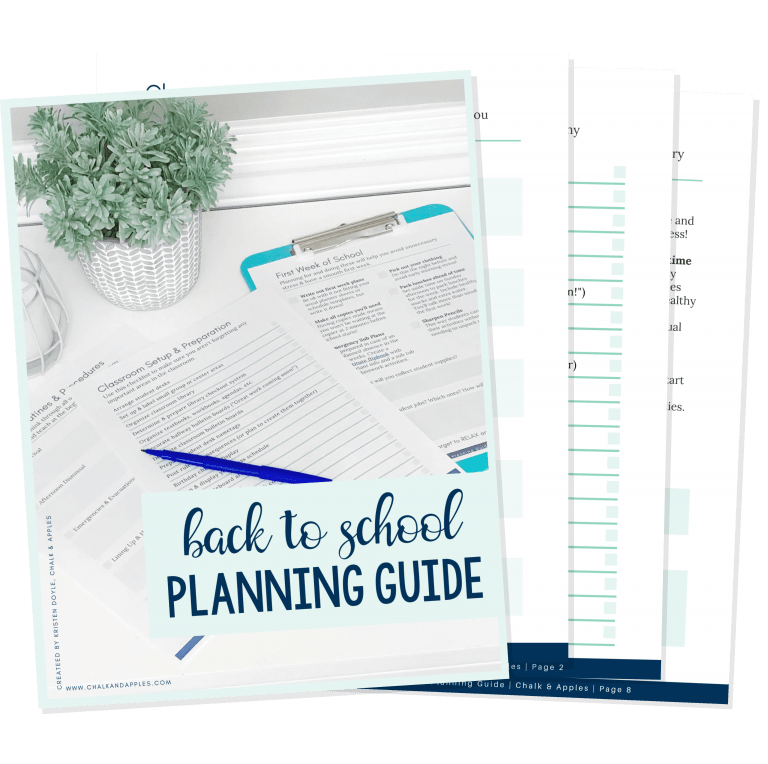 Back to School Planning Guide FREEBIE - FREE Back to School Planning Guide