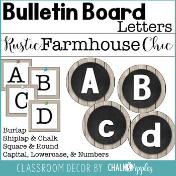 Bulletin Board Letters Rustic Farmhouse Chic 1.jpg - Bulletin Board Letters - Rustic Farmhouse Chic