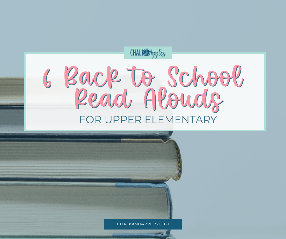 Forming relationships with your students takes time and effort. Here are 6 of my favorite back-to-school read aloud books for upper elementary.