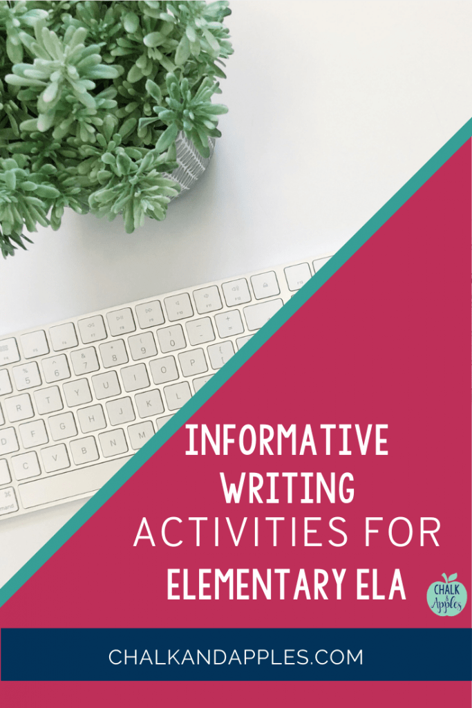 Check out these 3 informative writing activities for elementary ELA!