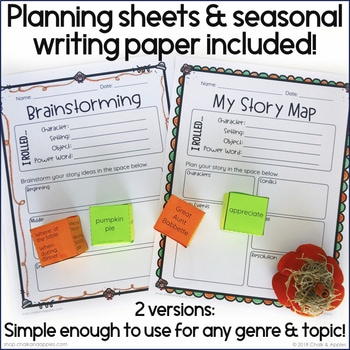 CBA0517E BCB4 4060 8D0A F68D8322AF48 - Thanksgiving Writing Activity - Roll & Write Center - Distance Learning