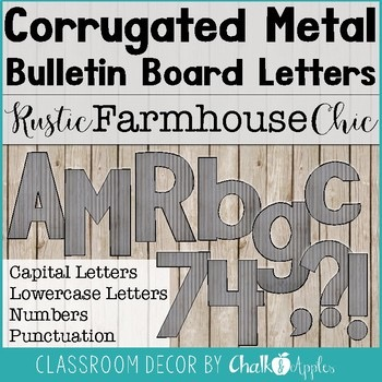 Corrugated Metal Bulletin Board Letters Rustic Farmhouse Chic 1.jpg - Corrugated Metal Bulletin Board Letters - Rustic Farmhouse Chic