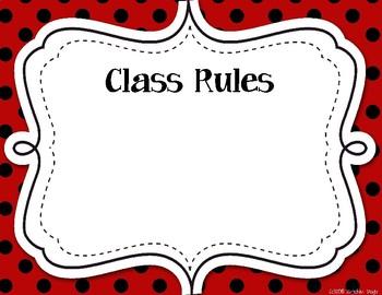 D520EE2B EF3D 474D 81AA 6581378FE12F - Classroom Label Pack (Editable) - Red & Black Polka Dots