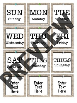 D96A1730 4C02 4226 A3D9 C30471E19D3B - Editable Calendar Set - Rustic Farmhouse Chic