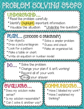 DBCFD9C6 B238 411A 9AA9 E5F212001480 - Problem Solving Process Posters & Bookmarks