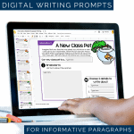 Digital Writing Prompts Instagram - Informative Paragraphs - DIGITAL Weekly Paragraph Writing Prompts