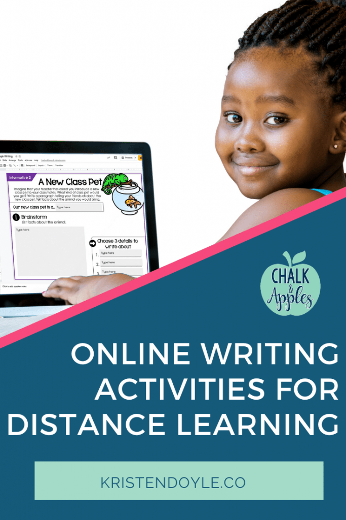 Distance Learning Writing Activities - Online Writing Activities for Distance Learning