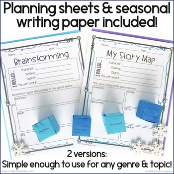 E15AFDCF 2815 4820 8577 DE9E58C1D75C - Winter Writing Activity - Roll & Write Center - Distance Learning