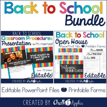 Editable Back To School Presentation Bundle Open House Procedures 1.jpg - Editable Back to School Presentation Bundle {Open House & Procedures}