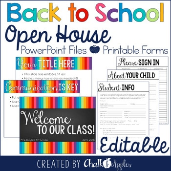Editable Open House PowerPoint Forms Back To School 1.jpg - Editable Open House PowerPoint & Forms {Back to School}