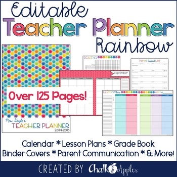 Editable Rainbow Teacher Planner 1.jpg - Editable Rainbow Teacher Planner