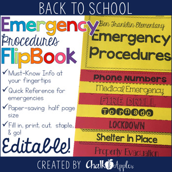 Emergency Procedures Flip Book Editable Flipbook 1.jpg - Emergency Procedures Flip Book (Editable Flipbook)