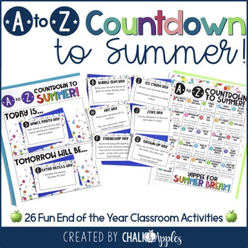End Of The Year Activity A To Z Countdown To Summer 1.jpg - End of the Year Activity: A to Z Countdown to Summer