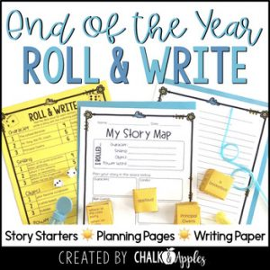 End Of The Year Writing Activity Roll Write Center 1.jpg - Year-Long Holiday Writing Activities Bundle (Roll & Write)