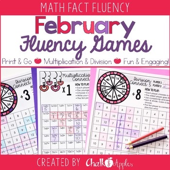 February Multiplication Division Fluency Games 1.jpg - February Multiplication & Division Fluency Games
