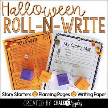 Halloween Writing Activity Roll Write Center 1.jpg - Halloween Writing Activity - Roll & Write Center - Distance Learning