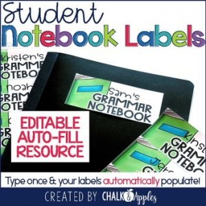 Instant Editable Labels For Student Notebooks Folders 1.jpg - Instant, Editable Labels for Student Notebooks & Folders
