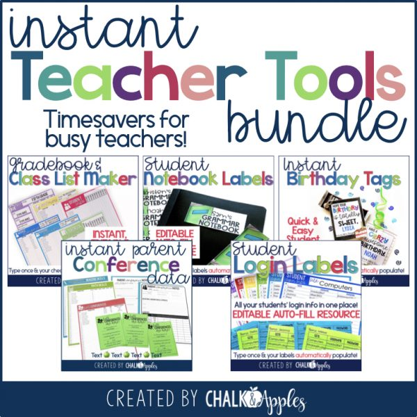 Instant Teacher Timesavers.001 - Instant Editable Teacher Timesavers Bundle