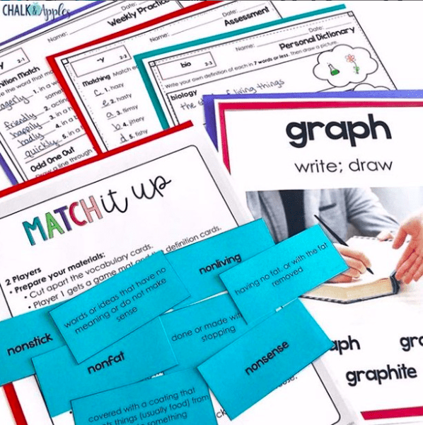 Match It Up - 5 Greek and Latin Root Activities