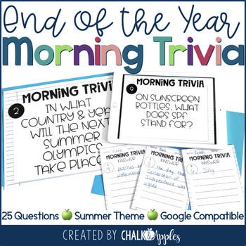 Morning Trivia Summer End Of The Year 1.jpg - Morning Trivia - Summer & End of the Year