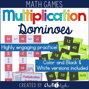 Multiplication Fact Dominoes Game 1.jpg - Multiplication Fact Dominoes Game
