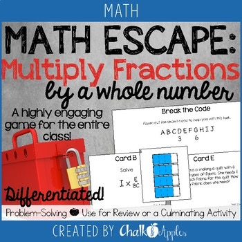 Multiplying Fractions By A Whole Number Math Escape Game 1.jpg - Multiplying Fractions by a Whole Number Math Escape Game