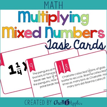 Multiplying Mixed Numbers Task Cards Scoot 1.jpg - Multiplying Mixed Numbers Task Cards & Scoot