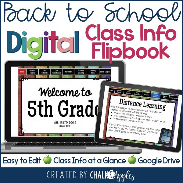 PREVIEW Back to School Digital Flipbook 3845997 Page 1 - DIGITAL Back to School Flipbook for Distance Learning