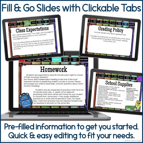 PREVIEW Back to School Digital Flipbook 3845997 Page 3 - DIGITAL Back to School Flipbook for Distance Learning