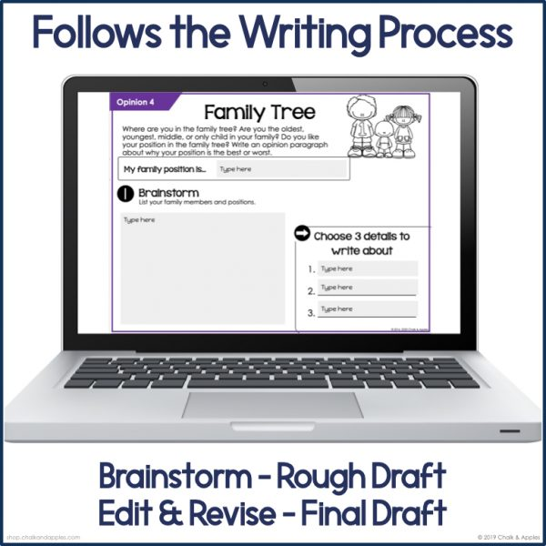 PREVIEW Digital Opinion Writing.002 - Opinion Paragraphs - DIGITAL Weekly Paragraph Writing Prompts