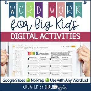 PREVIEW Digital Word Work for Big Kids.001 - DIGITAL Word Work for Big Kids: Vocabulary Activities