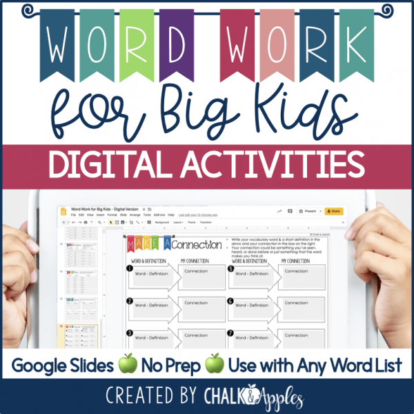 PREVIEW Digital Word Work for Big Kids.001 - DIGITAL Word Work for Big Kids: Vocabulary Activities