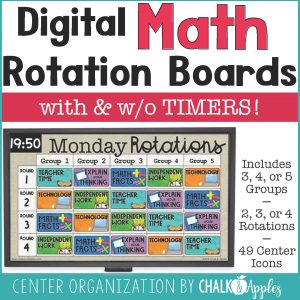 PreviewDigitalMathRotationBoards3875580 Page 1 - Math Digital Rotation Board with Timers (Editable)