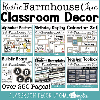 Rustic Farmhouse Chic Classroom Decor Bundle 1.jpg - Rustic Farmhouse Chic Classroom Decor Bundle