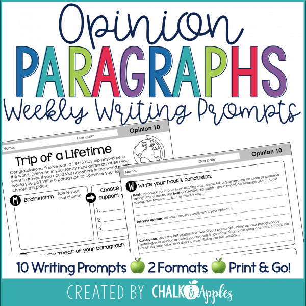 Opinion Persuasive Paragraphs