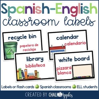 Spanish English Classroom Labels 1.jpg - Spanish - English Classroom Labels