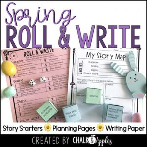 Spring Writing Activity Roll Write Center 1.jpg - Year-Long Holiday Writing Activities Bundle (Roll & Write)