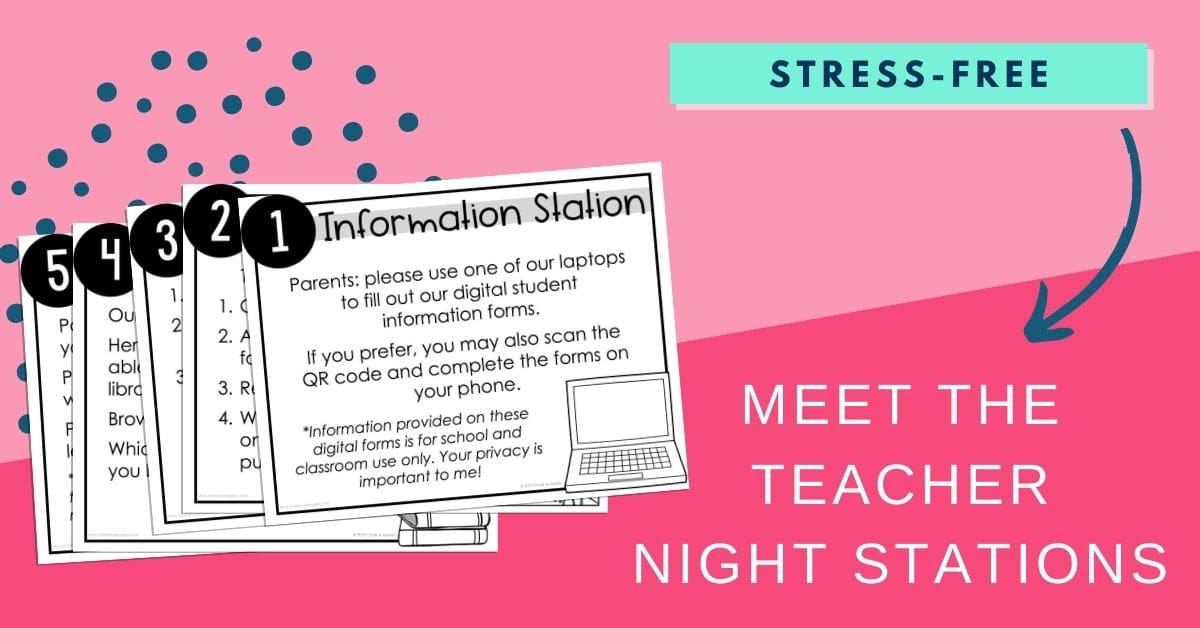 meet the teacher stations for back to school night