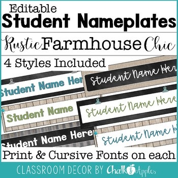Student Nameplates Rustic Farmhouse Chic 1.jpg - Student Nameplates - Rustic Farmhouse Chic