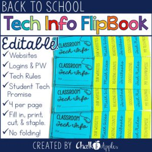 Student Passwords Technology Info Flip Book Editable Flipbook 1.jpg - Student Passwords & Technology Info Flip Book (Editable Flipbook)